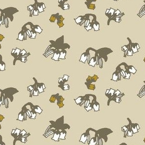 Blueberry Buds beige