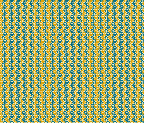 Tracks - Kingfisher & Mustard fabric by jodiebarker on Spoonflower - custom fabric