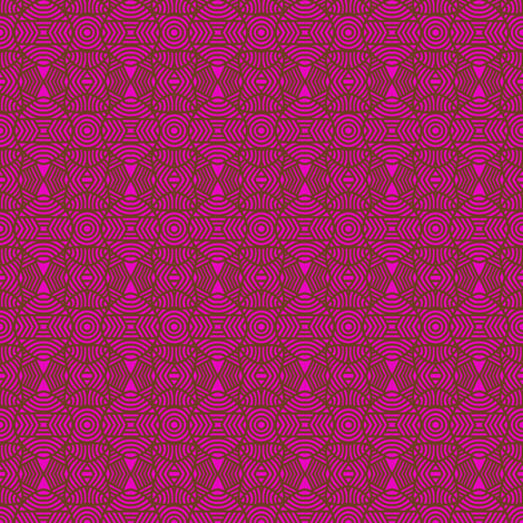 Circles and Bows 1 Pink Brown fabric by eve_catt_art on Spoonflower - custom fabric