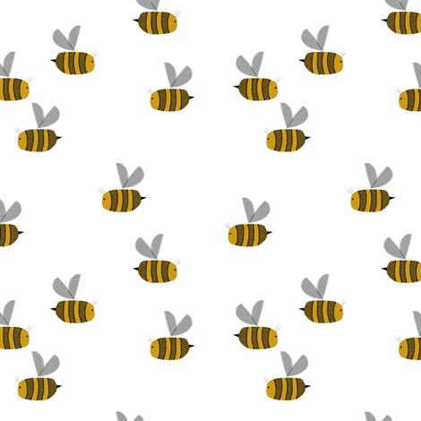bees at work random fabric by ruth_robson on Spoonflower - custom fabric