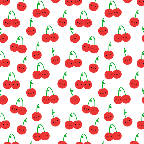 Cheery Cherries fabric by clayvision on Spoonflower - custom fabric