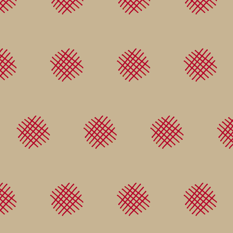 Red Crosshatch (Adobe) fabric by david_kent_collections on Spoonflower - custom fabric