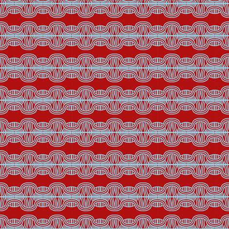 Braided Headbands Red White fabric by eve_catt_art on Spoonflower - custom fabric