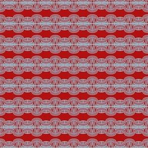 Braided Headbands Red White
