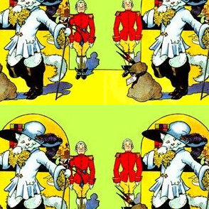 puss in boots cats palaces castles soldiers kings majesty guards gifts presents pheasant birds fairy tales story stories vintage royal thrones