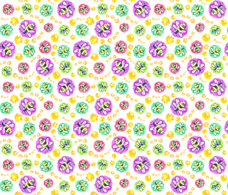 Bees_Boppin fabric by margodepaulis on Spoonflower - custom fabric