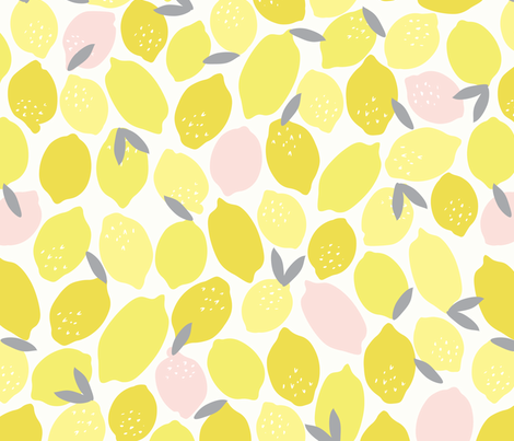 Pink Lemonade fabric by shelbyallison on Spoonflower - custom fabric