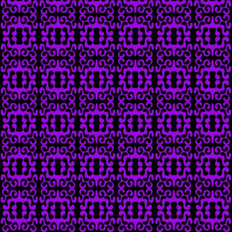 Paper Cutouts Purple Black fabric by eve_catt_art on Spoonflower - custom fabric