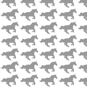 Running Horse Tiny Grey