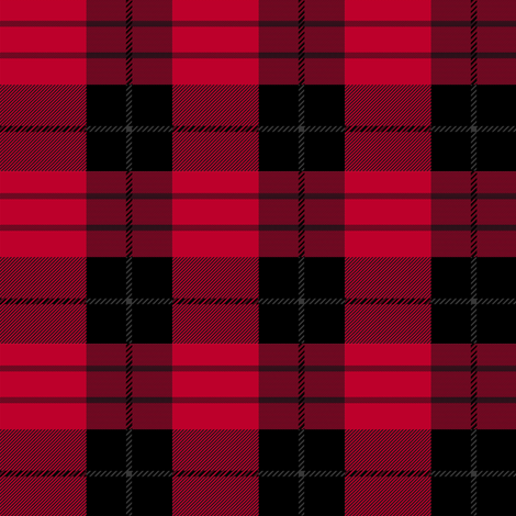 deep red plaid fabric by maillustration on Spoonflower - custom fabric