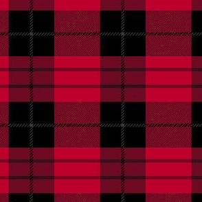 deep red plaid