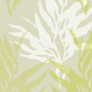 White & Green Kelp on Light Green/Gray