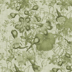 Gracious Abundance ~ Green Linen Luxe