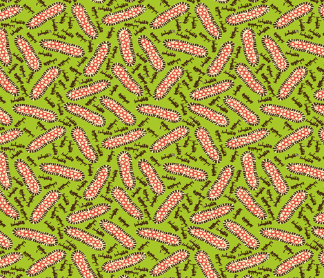 Pods Big - Lime Mix fabric by jodiebarker on Spoonflower - custom fabric