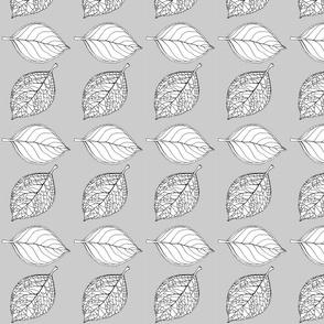 Hydrangea Leaves Mini Grey
