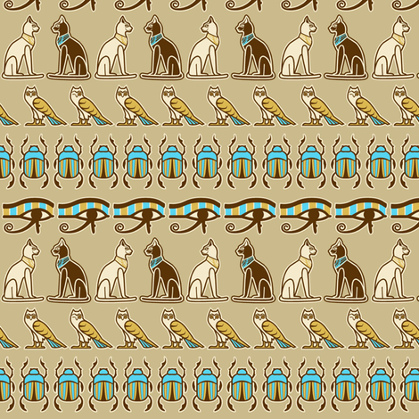 Egyptian odd one out reduced fabric by cjldesigns on Spoonflower - custom fabric