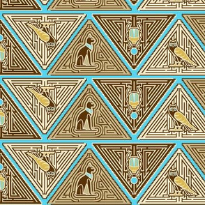 Egyptian puzzle maze blue reduced