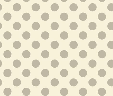 Fine & Dandelion Polka Dot in Cream fabric by twigandweave on Spoonflower - custom fabric