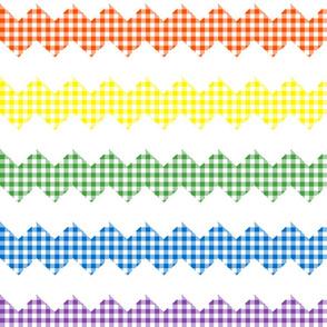 rainbow zigzag gingham