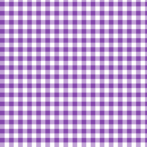 purple and white gingham fabric by weavingmajor on Spoonflower - custom fabric