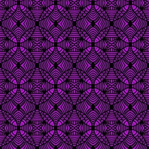DENSE Fish Circles Purple