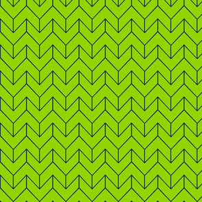 Lime Navy Geometric