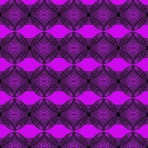 MEDIUM Fish Circles Purple