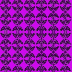 SMALL Fish Circles Purple