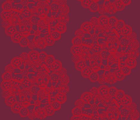 •WHEEL•  Raisin and Fuchsine  fabric by atelierbb on Spoonflower - custom fabric