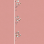 Love & Flowers Border - pink
