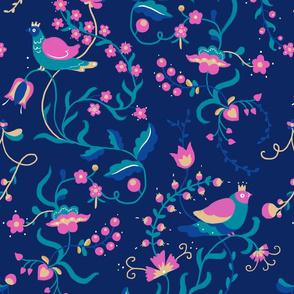 Nightless Garden - dark blue