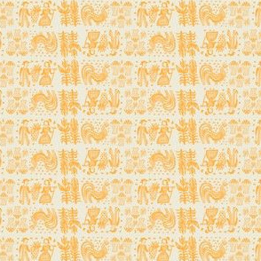 Orange Butterprint Design