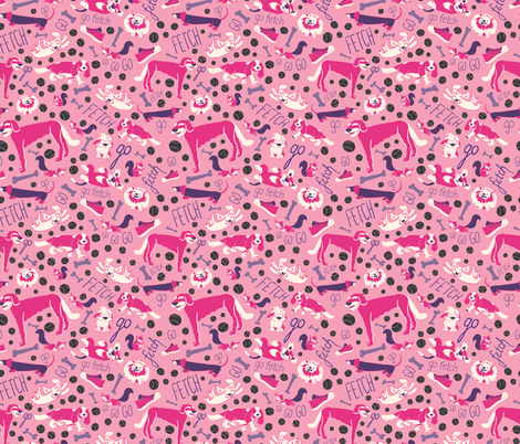 Girls Day at the Dog park fabric by bermudezbahama on Spoonflower - custom fabric