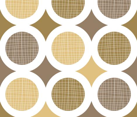 Mod Pod Nat fabric by pennyroyal on Spoonflower - custom fabric