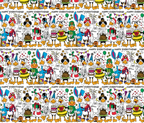 Happy Everything fabric by mariafaithgarcia on Spoonflower - custom fabric