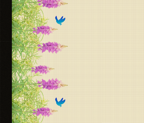 Lavender_with_bird fabric by b2b on Spoonflower - custom fabric
