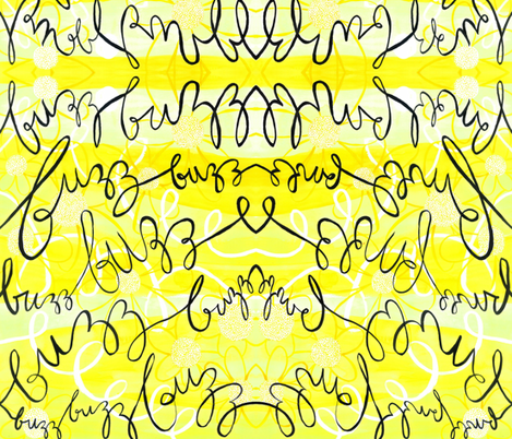 Buzzy Bees fabric by karalynshaw on Spoonflower - custom fabric