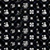 Portal diamonds black/blue