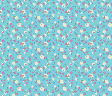Flower Spray Drops fabric by indiequilter on Spoonflower - custom fabric