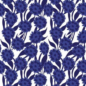 Floral _ Blue Shapes