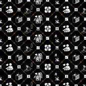 Portal diamonds black/orange