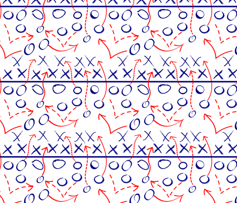 Infinite Play Navy and Red fabric by pamelachi on Spoonflower - custom fabric
