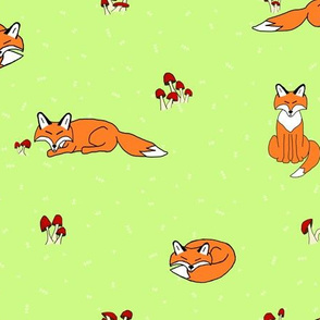 Creativebug Foxes and Mushrooms