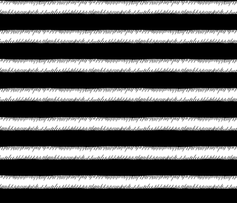 Black and White Adventure Stripe fabric by pinky_wittingslow on Spoonflower - custom fabric