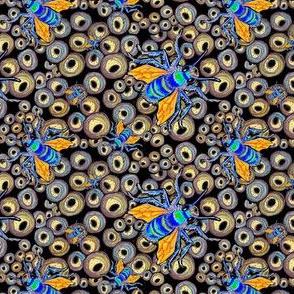 Metallic Mason Bees Emerging