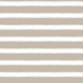 Stone and White Adventure Stripe