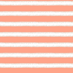 Peach and White Adventure Stripe