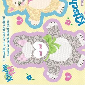 KitschyPet Kitschy Kitty Meets Fuzzy Bunny Plush Toys and Book