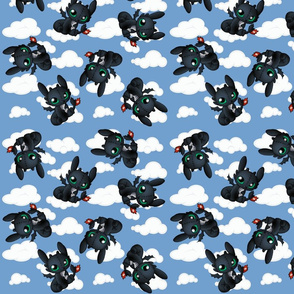 Baby Dragon in the clouds