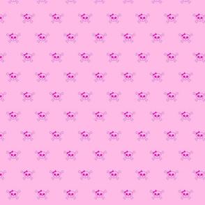 pink mini skulls